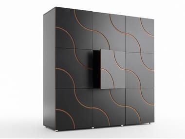 Lacquered highboard INFINITY | Highboard