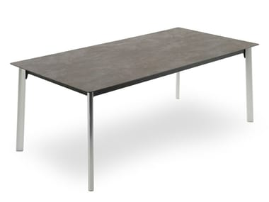 Extending rectangular Anodized aluminium table INFINITY