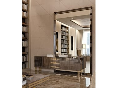 Rectangular wall-mounted framed mirror INFINITY | Mirror