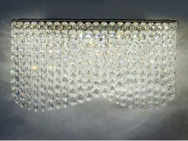 LED wall light with crystals INFINITY WALL