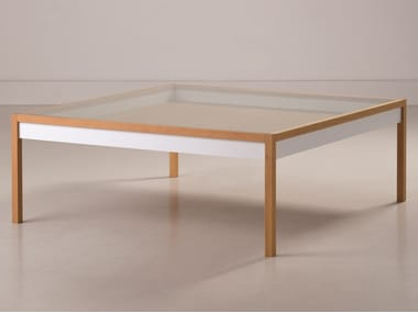 square wooden coffee table ingrid