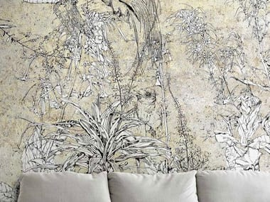 Papel de parede ecológico de tecido não tecido INK GARDEN