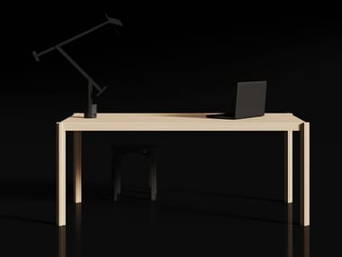 Solid wood workstation desk INLAY | Office desk