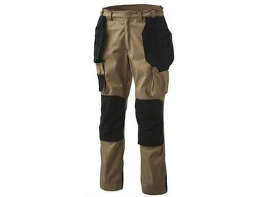 Pantalone 65% PL-35% CO 245 g/mq INN-BUMPER KHAKI/BLACK