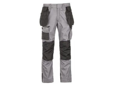 Pantalone 50% PL-50% CO 300 g/mq INN-BUMPER PLUS LIGHT GREY/BLACK