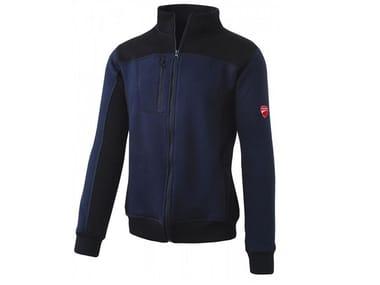 Felpa full zip 80% CO-20% PL 310g/mq INN-HULL SAYLOR BLUE/BLACK