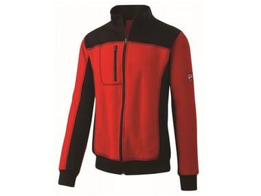 Felpa mezza zip 80%CO-20% PL 310g/mq INN-PODIUM RED/BLACK