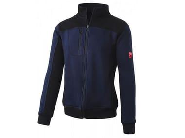 Felpa mezza zip 80%CO-20% PL 310g/mq INN-PODIUM SAYLOR BLUE/BLACK