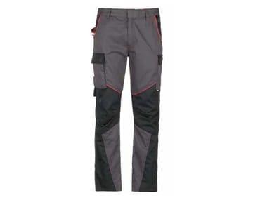 Pantalone 65% PL - 35% CO 245 g/mq INN-WARMUP NEW DARK GREY/BLACK
