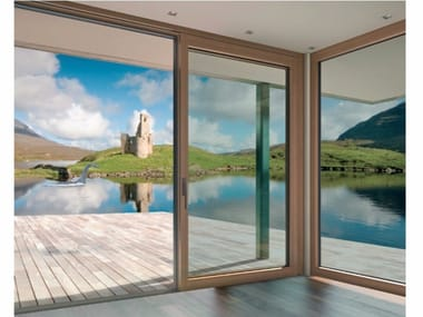 Aluminium and wood patio door INNOVIEW