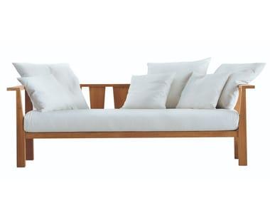 3 seater fabric garden sofa INOUT 03
