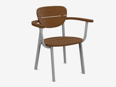 Sedia impilabile con braccioli INOUT 124
