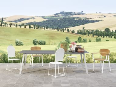 Barbecues, tables and chairs for the outdoors