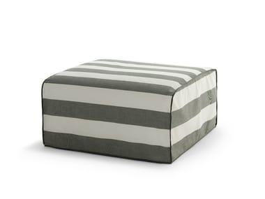 Square fabric garden pouf INOUT 408