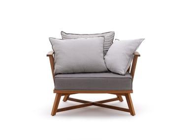 Oak garden armchair with armrests INOUT 707
