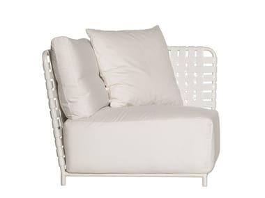 Corner modular fabric garden armchair INOUT 807