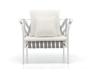 Aluminium armchair with armrests INOUT 851