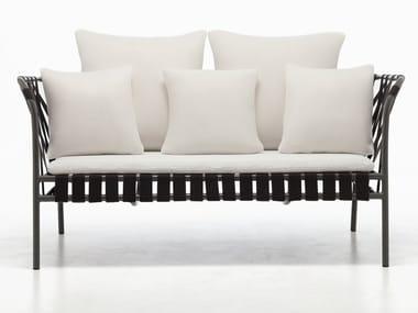 Powder coated aluminium garden sofa INOUT 852