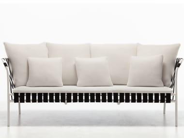 Powder coated aluminium garden sofa INOUT 853