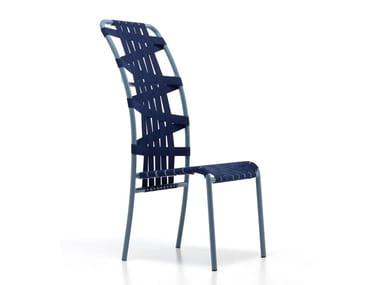 Sedia in alluminio verniciato a polvere con schienale alto INOUT 855