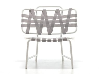 Powder coated aluminium easy chair INOUT 856