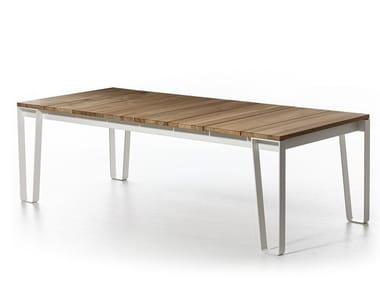 Rectangular garden table with top in Teak INOUT 933 | Garden table