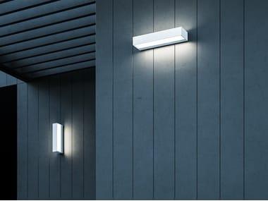 Applique per esterno a LED a luce diretta e indiretta in alluminio INOUT W2 OUTDOOR