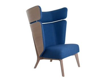 Upholstered high-back fabric armchair INSIDE  XL