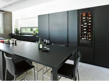 Built-in wine cooler with built-in lights INSPIRATION: MEDIUM