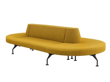 Modular fabric bench with back INTERCITY | Bench with back
