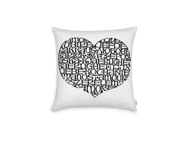 Cuscino quadrato in cotone INTERNATIONAL LOVE HEART