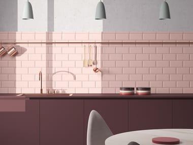 Antibacterial ecological fireproof ceramic wall tiles INTERNI BISELLO MATT