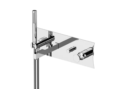 Miscelatore per doccia con doccetta con piastra INTERSEZIONE | Miscelatore per doccia con doccetta