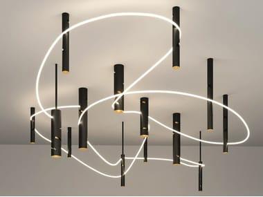 Lampada a sospensione / lampada da soffitto in alluminio INTERWEAVE | Lampada a sospensione