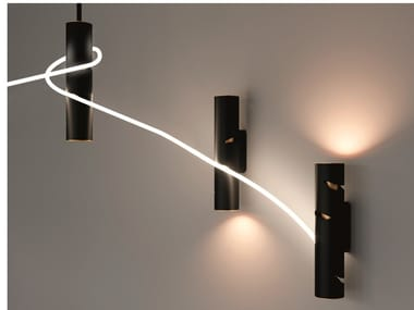 Lampada da parete a LED a luce diretta e indiretta in alluminio INTERWEAVE | Lampada da parete