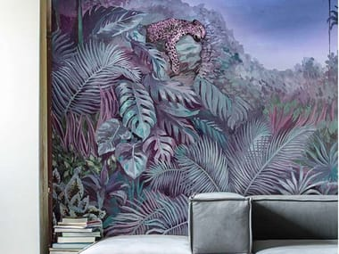 Carta da parati tropicale PVC free, eco-friendly, lavabile INTO THE WILD