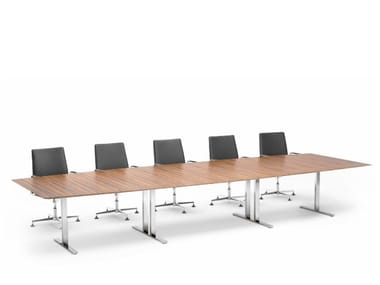 Height-adjustable rectangular meeting table .INTRA | Height-adjustable meeting table
