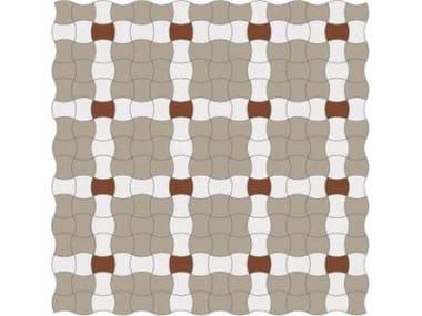 Pavimento/rivestimento antiscivolo in gres porcellanato per interni ed esterni INTRECCIO BUTTERFLY FULL BODY SU RETE