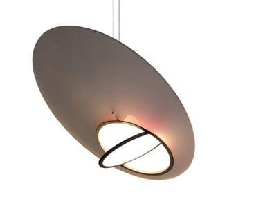Lampada a sospensione a LED in alluminio e vetro INTROVERT EXTROVERT MEDIUM