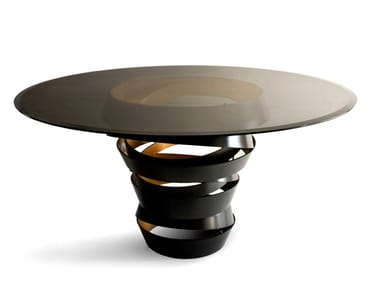 Round glass table INTUITION
