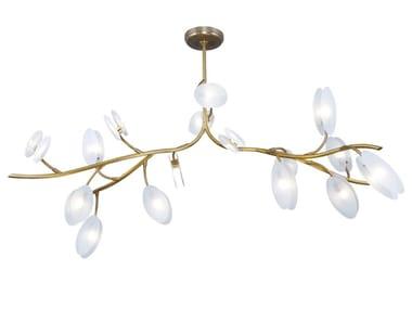 Lampada da soffitto a LED fatta a mano in ottone INVERNO CHANDELIER 16 | Lampada da soffitto