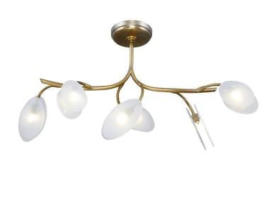 Lampada da soffitto a LED fatta a mano in ottone INVERNO CHANDELIER 6 | Lampada da soffitto