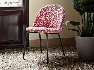 Upholstered fabric chair IOLA | Fabric chair