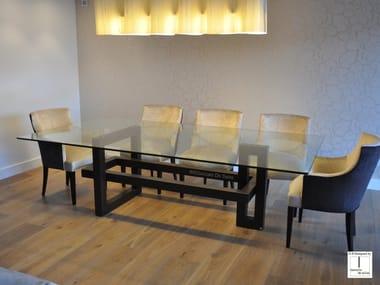 Rectangular glass dining table IOS | Rectangular table