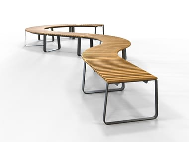 Curved modular bench seating without back IOU | Bench seating