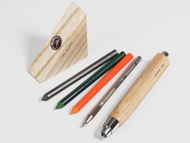 Wooden mechanical pencil IPER WOOD/SET/4 | Wooden mechanical pencil