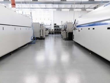 Resin continuous flooring IPM VOLTEC