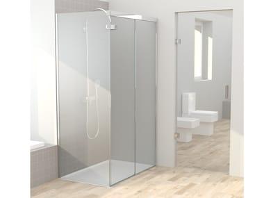Cabina de ducha de vidrio con puertas correderas IPSO CLAUDIT