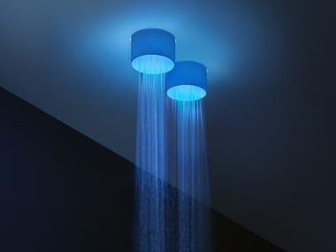 Soffione doccia a LED a soffitto in acciaio inox IRIDE
