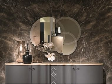 Wall-mounted round mirror IRIDE | Wall-mounted mirror